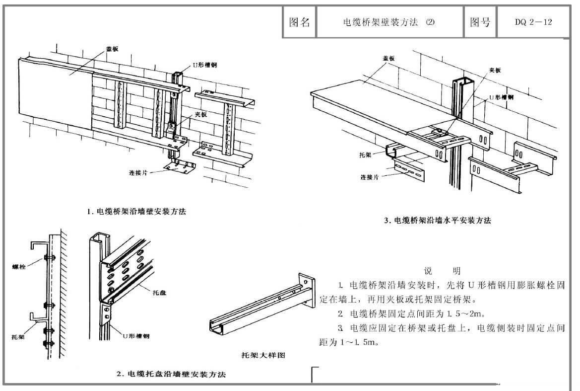 电缆桥架安装图集